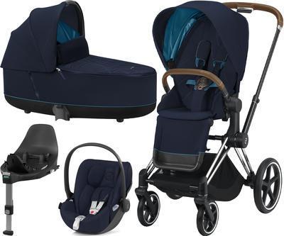 Kočárek CYBEX Set Priam Chrome Brown Seat Pack 2021 včetně Cloud Z i-Size PLUS a base Z, nautical blue - 1