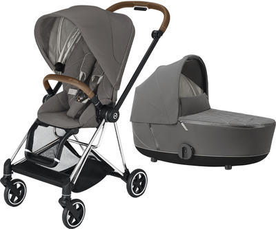 Kočárek CYBEX Mios Chrome Brown Seat Pack 2021 včetně korby, soho grey - 1