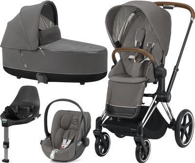 Kočárek CYBEX Set Priam Chrome Brown Seat Pack 2021 včetně Cloud Z i-Size PLUS a base Z, soho grey - 1