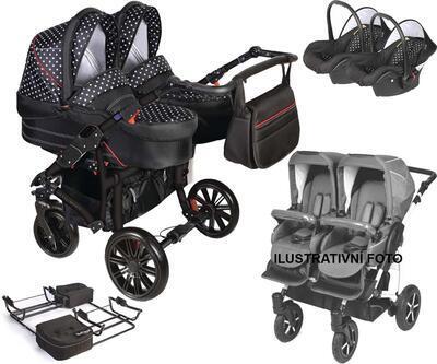 Kočárek DORJAN Twin DS5 2021 včetně autosedaček - 1