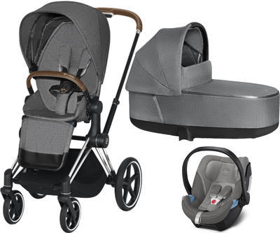Kočárek CYBEX Set Priam Chrome Brown Seat Pack PLUS 2021  včetně Aton 5 - 1
