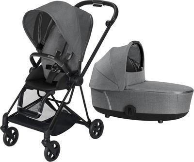 Kočárek CYBEX Mios Matt Black Seat Pack PLUS 2021 včetně korby, manhattan grey - 1