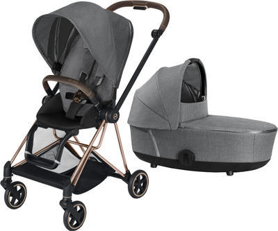 Kočárek CYBEX Mios Rosegold Seat Pack PLUS 2021 včetně korby, manhattan grey - 1