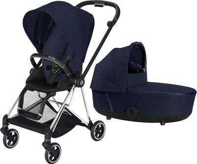 Kočárek CYBEX Mios Chrome Black Seat Pack PLUS 2021 včetně korby, midnight blue - 1