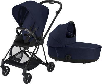 Kočárek CYBEX Mios Matt Black Seat Pack PLUS 2021 včetně korby, midnight blue - 1
