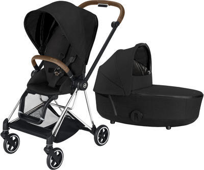 Kočárek CYBEX Mios Chrome Brown Seat Pack PLUS 2021 včetně korby, stardust black - 1