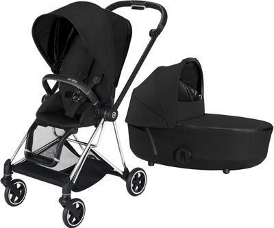 Kočárek CYBEX Mios Chrome Black Seat Pack PLUS 2021 včetně korby, stardust black - 1