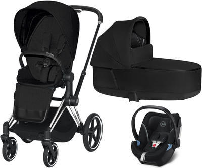 Kočárek CYBEX Set Priam Chrome Black Seat Pack PLUS 2021  včetně Aton 5, stardust black - 1