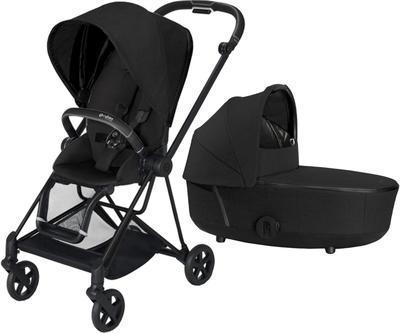 Kočárek CYBEX Mios Matt Black Seat Pack PLUS 2021 včetně korby, stardust black - 1