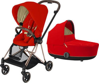 Kočárek CYBEX Mios Rosegold Seat Pack 2021 včetně korby, autumn gold - 1