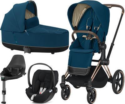 Kočárek CYBEX Set Priam Rosegold Seat Pack 2021 včetně Cloud Z i-Size a base Z, mountain blue - 1