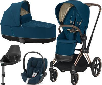 Kočárek CYBEX Set Priam Rosegold Seat Pack 2021 včetně Cloud Z i-Size PLUS a base Z, mountain blue - 1