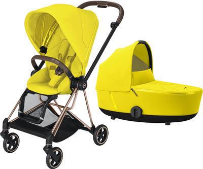 Kočárek CYBEX Mios Rosegold Seat Pack 2021 včetně korby, mustard yellow - 1