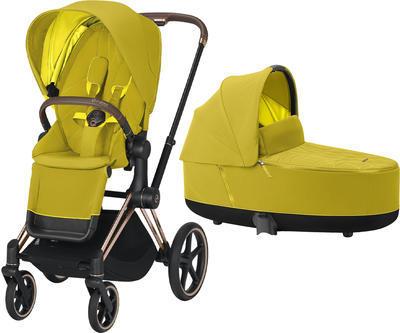 Kočárek CYBEX Priam Rosegold Seat Pack 2021 včetně korby - 1