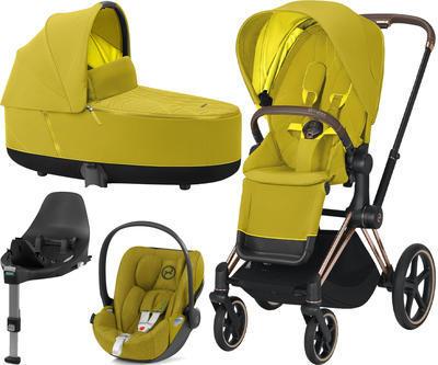 Kočárek CYBEX Set Priam Rosegold Seat Pack 2021 včetně Cloud Z i-Size PLUS a base Z, mustard yellow - 1