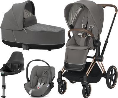 Kočárek CYBEX Set Priam Rosegold Seat Pack 2021 včetně Cloud Z i-Size a base Z, soho grey - 1