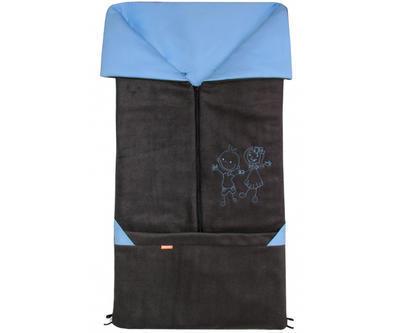 Fusak EMITEX Fanda 2v1 fleece s bavlnou 2020, antracit - světle modrý - 1