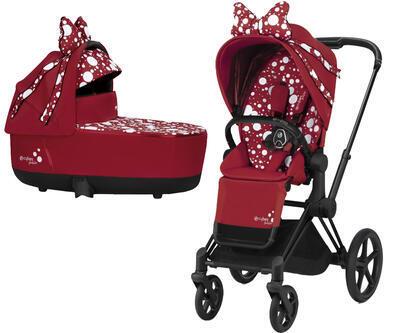 Kočárek CYBEX by Jeremy Scott Priam SeatPack Petticoat Red 2021 včetně korby - 1
