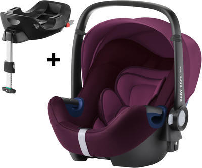 Autosedačka BRITAX RÖMER Baby-Safe2 i-Size Bundle Flex Premium Line 2021, burgundy red - 1