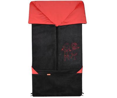 Fusak EMITEX Fanda 2v1 fleece s bavlnou 2020, černý- červený - 1