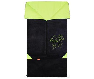 Fusak EMITEX Fanda 2v1 fleece s bavlnou 2020, černý - limetka - 1
