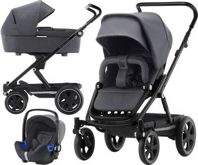Kočárek BRITAX GO Big2 Premium Line 2019 včetně hluboké korby + autosedačka Baby-Safe i-Size ZDARMA, graphite melange/black - 1