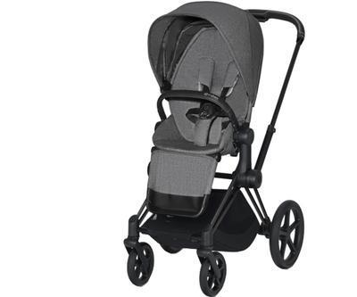 Kočárek CYBEX Priam Matt Black Seat Pack PLUS 2021 - 1