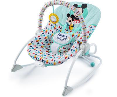 Houpátko vibrující BRIGHT STARTS Mickey Mouse Happy triangles 0m+ 2019 - 1
