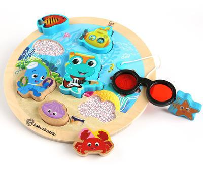 Dřevěná hračka BABY EINSTEIN Puzzle Submarine Adventure HAPE 18m+ 2020 - 1