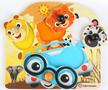 Dřevěná hračka BABY EINSTEIN Puzzle Friendy Safari Faces HAPE 12m+ 2020 - 1/4