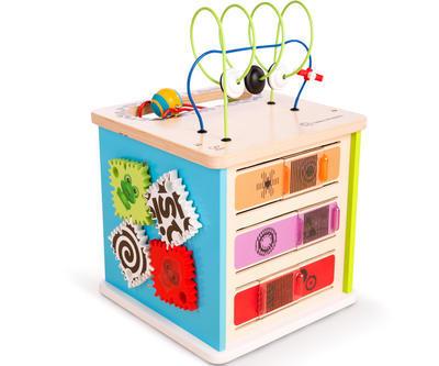Dřevěná aktivní hračka BABY EINSTEIN Kostka Innovation Station HAPE 12m+ 2020 - 1