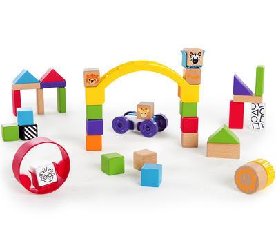 Dřevěná hračka BABY EINATEIN Stavebnice Curious Creations Kit HAPE 12m+ 2020 - 1