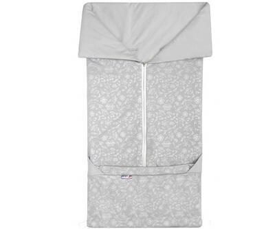 Fusak EMITEX Bary 2v1 bavlna 2021, světle šedá - stříbrná potisk kytky - 1