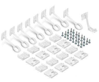 Zámek na dvířka a šuplíky REER 8ks bílý 2021 - 1