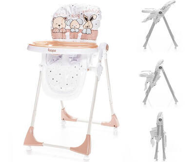 Jídelní židlička ZOPA Monti 2021, animal beige - 1