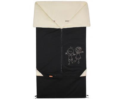 Fusak EMITEX Bary 2v1 bavlna 2020, černý - béžový - 1