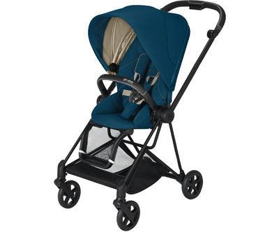 Kočárek CYBEX Mios Matt Black Seat Pack 2021, mountain blue - 1