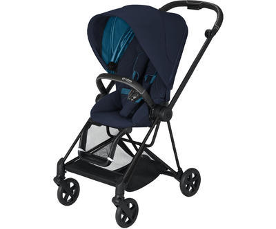 Kočárek CYBEX Mios Matt Black Seat Pack 2021, nautical blue - 1