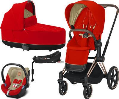 Kočárek CYBEX Set Priam Rosegold Seat Pack 2021 včetně Aton 5 a báze, autumn gold - 1