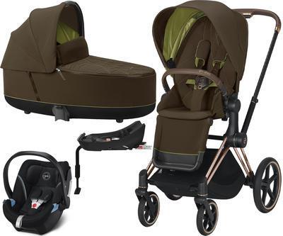 Kočárek CYBEX Set Priam Rosegold Seat Pack 2021 včetně Aton 5 a báze, khaki green - 1