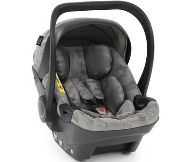 Autosedačka BABYSTYLE Egg Shell i-Size 2020, camo grey - 1