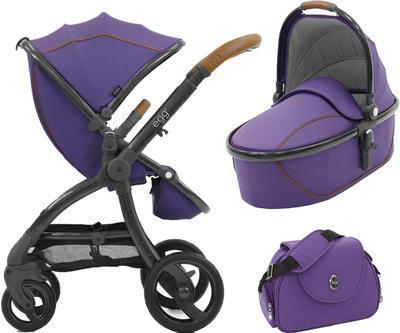 Kočárek BABYSTYLE Egg® včetně korby a tašky 2017 + DÁRKY, gothic purple/gun metal rám - 1