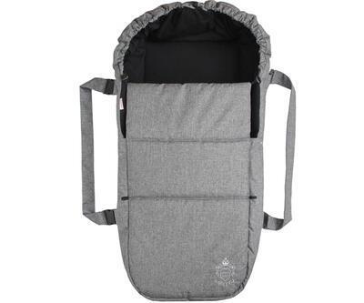 Taška pro kojence EMITEX Oxford 2021, středně šedá - černá uvnitř - 1