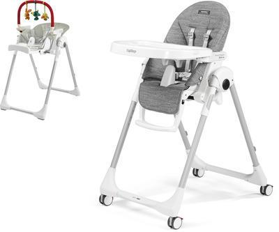 Jídelní židlička PEG PÉREGO Prima Pappa Follow Me 2021 + DÁREK, wonder grey - 1