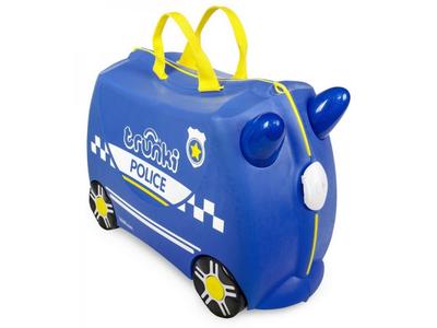 Kufřík + odrážedlo  TRUNKI 2020, policejní auto Percy - 1