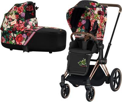Kočárek CYBEX Priam Lux Seat Fashion Spring Blossom 2021 včetně korby - 1
