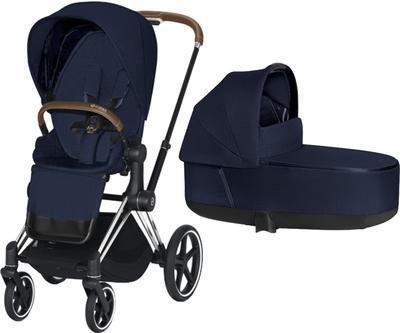 Kočárek CYBEX Priam Chrome Brown Seat Pack PLUS 2021 včetně korby - 1