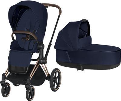 Kočárek CYBEX Priam Rosegold Seat Pack PLUS 2021 včetně korby - 1