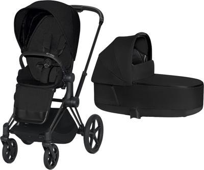 Kočárek CYBEX Priam Matt Black Seat Pack PLUS 2021 včetně korby - 1
