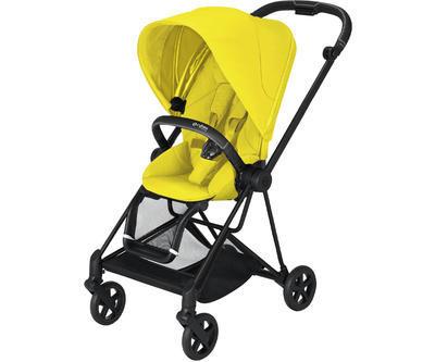 Kočárek CYBEX Mios Matt Black Seat Pack 2021, mustard yellow - 1
